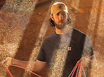 2/2/15 4:49:52 PM -- Lenoir, NC, U.S.A  -- We hang out with San Francisco Giants pitcher Madison Bumgarner at his ranch in North Carolina. Bumgarner shows off his roping skills during the filming of a commercial in one of his barns-- Photo by Jim Dedmon, USA TODAY  Sports Images,  ORG XMIT:  US 132520 Bumgarner 2/2/2015 [Via MerlinFTP Drop]