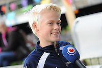 FIERLJEPPEN: GRIJPSKERK: 05-09-2015, NK Fierljeppen voor jeugd, winnaar Rutger Haanstra - It Heidenskip (jongens 11-12 jaar), ©foto Martin de Jong