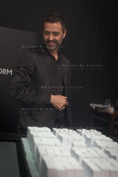 Fabio Novembre during the Lexus Design Amazing 2014, on April 08, 2014. Photo: Adamo Di Loreto/BuenaVista*photo