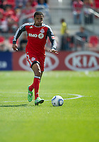 17 September 2011: Toronto FC forward/midfielder Ryan Johnson #9 in action during an MLS game between the Colorado Rapids and the Toronto FC at BMO Field in Toronto, Ontario Canada..Toronto FC won 2-1.