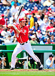 25 April 2010: Washington Nationals' outfielder Josh Willingham at bat against the Los Angeles Dodgers at Nationals Park in Washington, DC. The Nationals shut out the Dodgers 1-0 to take the rubber match of their 3-game series. Mandatory Credit: Ed Wolfstein Photo