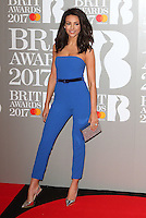 Michelle Keegan at The BRIT Awards 2017 at The O2, Peninsula Square, London on February 22nd 2017<br /> CAP/ROS<br /> &copy; Steve Ross/Capital Pictures /MediaPunch ***NORTH AND SOUTH AMERICAS ONLY***