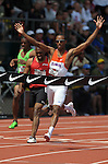 Tony McQuay crosses the finish line to win the 400 meter dash at the U.S. Outdoor Track and Field Championships in Eugene, Oregon June 25, 2011.  REUTERS/Steve Dykes (UNITED STATES)