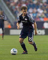 New England Revolution forward Zack Schilawski (15) on offense. The Chicago Fire defeated the New England Revolution, 1-0, at Gillette Stadium on June 27, 2010.