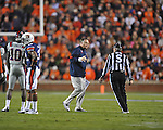 Ole Miss head coach Houston Nutt at Jordan-Hare Stadium in Auburn, Ala. on Saturday, October 29, 2011. .