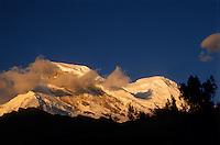 Peru, Andes Montain Range - Cordillera de los Andes, Cordillera Blanca mountain range, Mount Huascarán (6768 m), highest mountain in Pery.
