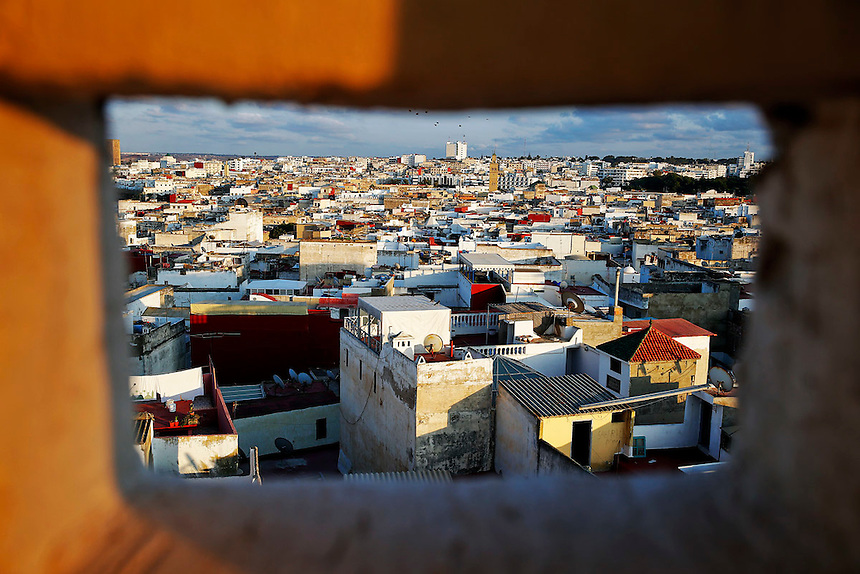 "Rooftops of Rabat's Medina are seen from atop a hotel that is being reconstructed September 25, 2014. Behind walls of Medina and Kasbah of the Oudayas, ancient neighbourhoods of Morocco's capital, labyrinths of small alleys, colourful buildings and street markets offer a glimpse into city's rich history. Rabat was recently listed by UNESCO as a World Heritage Site and suggested as a ""must see"" destination by major media outlets and tourist agencies.  REUTERS/Damir Sagolj (MOROCCO)"