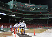 Sean Dougherty (Williams - 41)  leads the Ephs out of the Red Sox dugout to the ice. - The Williams College Ephs defeated the Trinity College Bantams 4-2 (EN) on Tuesday, January 7, 2014, at Fenway Park in Boston, Massachusetts.
