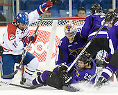 Riley Wetmore (Lowell - 16), Eriah Hayes (Mankato - 25), Phil Cook (Mankato - 30) - The visiting Minnesota State University-Mankato Mavericks defeated the University of Massachusetts-Lowell River Hawks 3-2 on Saturday, November 27, 2010, at Tsongas Arena in Lowell, Massachusetts.