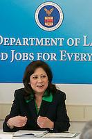 US Secretary of Labor Hilda Solis