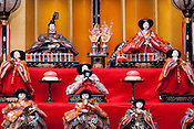 "A traditional doll display for Girls Day, or ""Hinamatsuri"" in Japanese."