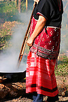 Woman Cooking - Hmong Hill Tribe