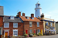 Sole Bay Pub and Lighthouse - Southwold - Suffolk - England