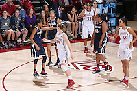 Stanford, CA -- November 17, 2014:  Stanford Cardinal vs. Connecticut Huskies at Maples Pavilion.  The Cardinal defeated the Huskies in overtime, 88-86.