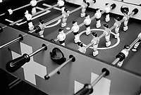 Switzerland. Canton Zürich. Zürich. Ringier house. Table football with swiss flag. Players. © 2007 Didier Ruef