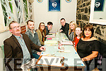 25th Birthday: Fiona Harnett, Abbeyfeale celebrating her 25th birthday with family at Casa Mia's Restaurant, Listowel on Saturday night last. L-R : Pat Harnett, David Ahern, Kadie & Paddy Harnett, John Murphy, Fiona, Chloe, & Nita Harnett.