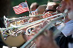 Ye Olde Towne band members perform a patriotic march July 4 at the Los Altos Community Foundation's Independence Day Celebration at Shoup Park in Los Altos.<br />