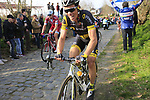 Sylvain Chavanel (FRA) Direct Energie climbs Oude Kwaremont during the 60th edition of the Record Bank E3 Harelbeke 2017, Flanders, Belgium. 24th March 2017.<br /> Picture: Eoin Clarke   Cyclefile<br /> <br /> <br /> All photos usage must carry mandatory copyright credit (&copy; Cyclefile   Eoin Clarke)