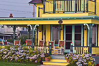 Massachusetts, Martha's Vineyard, Oak Bluffs, homes, porch