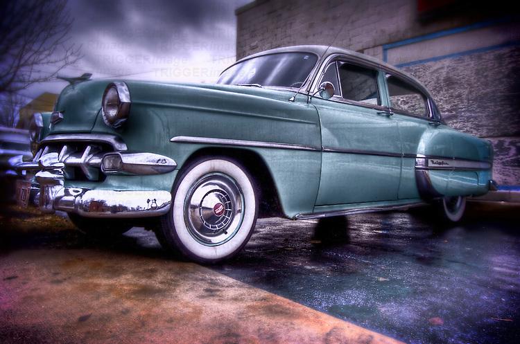 A 1950's Chevrolet car
