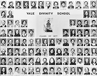 1977 Yale Divinity School Senior Portrait Class Group Photograph