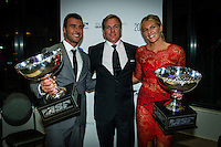 SURFERS PARADISE, Queensland/Australia (Friday, March 1, 2013) - 2012 World Surfing Champions Joel Parkinson (AUS) the new ASP CEO Paul Speaker (USA) and Stephanie Gilmore (AUS). The world's best surfers congregated last night at the QT Hotel in Surfers Paradise to celebrate the 2013 ASP World Surfing Awards, officially crowning last year's ASP World Champions and welcoming in the new year..Joel Parkinson (AUS), 31, long considered to be a threat to the ASP World Title ever since his inception amongst the world's elite over a decade ago, was awarded his maiden crown last night. Amidst a capacity crowd of the world's best surfers and hometown supporters, the Gold Coast stalwart brought the house down with a heartfelt and emotional speech..?It's beautiful to have everyone here tonight,? Parkinson said. ?We all come together and really celebrate last season amongst our friends and family. The new year, for me, begins tomorrow. Tonight, I just feel so fortunate to be up here and to be supported by my beautiful family. I love them and am only here because of them.?.FULL LIST OF AWARDS' RECIPIENTS:.2012 ASP World Champion: Joel Parkinson (AUS).2012 ASP World Runner-Up: Kelly Slater (USA).2012 ASP Rookie of the Year: John John Florence (HAW).2012 ASP Women's World Champion: Stephanie Gilmore (AUS).2012 ASP Women's World Runner-up: Sally Fitzgibbons (AUS).2012 ASP Women's Rookie of the Year: Malia Manuel (HAW).2012 ASP Breakthrough Performer: Sebastian Zietz (HAW).2012 ASP Women's Breakthrough Performer: Lakey Peterson (USA).2012 ASP World Longboard Champion: Taylor Jensen (USA).2012 ASP Women's World Longboard Champion: Kelia Moniz (HAW).2012 ASP World Junior Champion: Jack Freestone (AUS).2012 ASP Women's World Junior Champion: Nikki Van Dijk (AUS).ASP Life Member/Chairman Emeritus: Richard Grellman.ASP Service to the Sport: Randy Rarick.Peter Whittaker Award: Adrian Buchan.2012 ASP Men's Heat of the Year (Fan Vote): Mick Fanning (AUS)