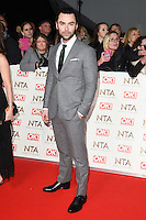 Aiden Turner at the National TV Awards 2017 held at the O2 Arena, Greenwich, London. <br /> 25th January  2017<br /> Picture: Steve Vas/Featureflash/SilverHub 0208 004 5359 sales@silverhubmedia.com