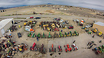 Walt Curtis old iron collection, including John Deere, Farmall and Case tractors, old trucks and cars, warehouses (toy sheds), junk and submarine diesel engine.<br /> <br /> Taken with the GoPro Hero 3 camera mounted on the DJI Phantom quadcopter drone<br /> <br /> Grass Valley, Nev.