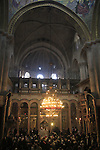 Israel, Jerusalem, the Katholikon at the Church of the Holy Sepulchre