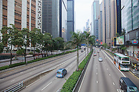 The view eastbound along Gloucester Road, Wan Chai