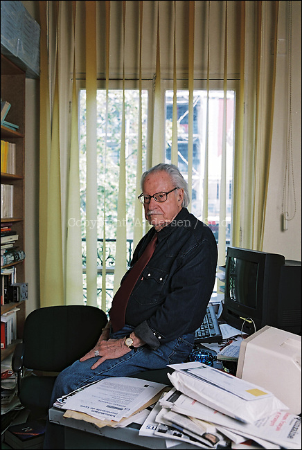 Maurice Nadeau in his office.