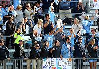 SAN DIEGO, CA - DECEMBER 02, 2012:  Fans of the University of North Carolina during the NCAA 2012 women's college championship match, at Torero Stadium, in San Diego, CA, on Sunday, December 02 2012. Carolina won 4-1.