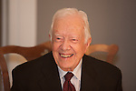 "Former President Jimmy Carter visited Illinois College in Jacksonville, Ill., in honor of the new ""Pathways to Peace"" initiative created by school benefactor Dr. Khalaf Al Habtoor. Faculty and students will study ways to bring about peace in the Middle East."