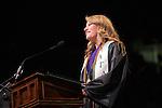 Haley Trottier speaks at Undergraduate Commencement. ©Ohio University/ Photo by Kaitlin Owens