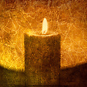 Textural image of a candle. Photo based illustration.