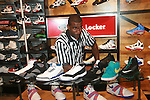 Amar'e Stoudemire Showcases a Sampling of His Very Own Shoe Collection Along With the New Nike Air Max Sweep Thru Shoe at New York City Foot Locker Store, NY 10/11/11