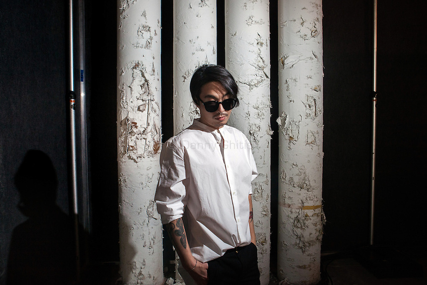 Korean designer Bumsuk Choi, creator of General Idea, backstage before his NYFW show. <br /> <br /> <br /> Danny Ghitis for The New York Times