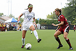 21 August 2011: Duke's Laura Weinberg (16) and South Carolina's Andie Romness (21). The Duke University Blue Devils defeated the University of South Carolina Gamecocks 2-0 at Koskinen Stadium in Durham, North Carolina in an NCAA Women's Soccer game.