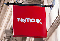 TK Maxx Shop Sign - Oct 2013.