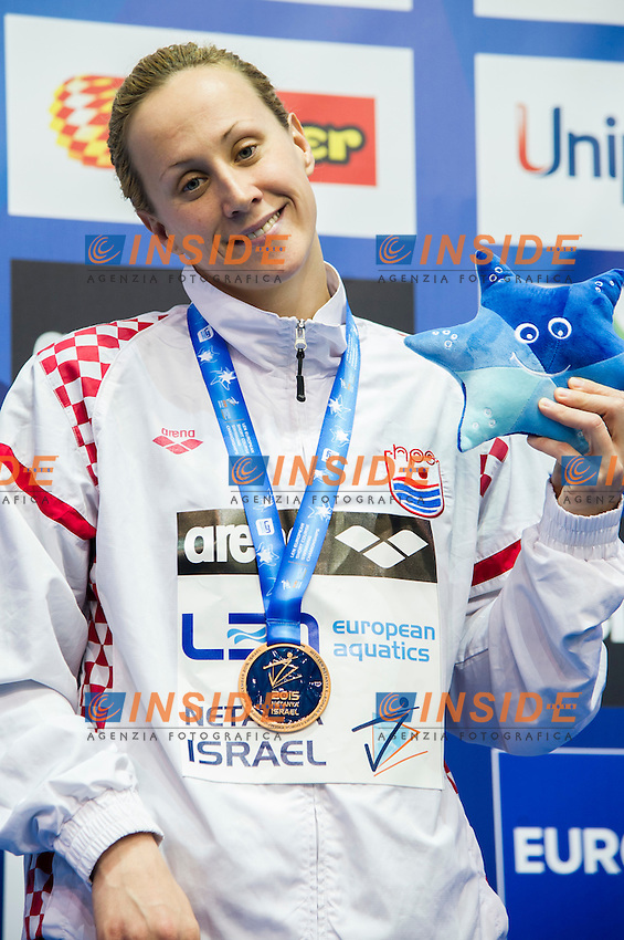 JOVANOVIC Sanja CRO Bronze Medal<br /> 50m Backstroke Women Final<br /> Netanya, Israel, Wingate Institute<br /> LEN European Short Course Swimming Championships Dec. 2 - 6, 2015 <br /> Netanya 05-12-2015<br /> Nuoto Campionati Europei di nuoto in vasca corta<br /> Photo Giorgio Scala/Deepbluemedia/Insidefoto