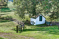 Charming springhouse on a horse farm, Delaware, USA.