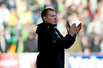 St Johnstone v Celtic..30.10.10  .Neil Lennon applauds at full time.Picture by Graeme Hart..Copyright Perthshire Picture Agency.Tel: 01738 623350  Mobile: 07990 594431