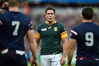 Francois Louw of South Africa looks on during a break in play. Rugby World Cup Pool B match between South Africa and the USA on October 7, 2015 at The Stadium, Queen Elizabeth Olympic Park in London, England. Photo by: Patrick Khachfe / Onside Images