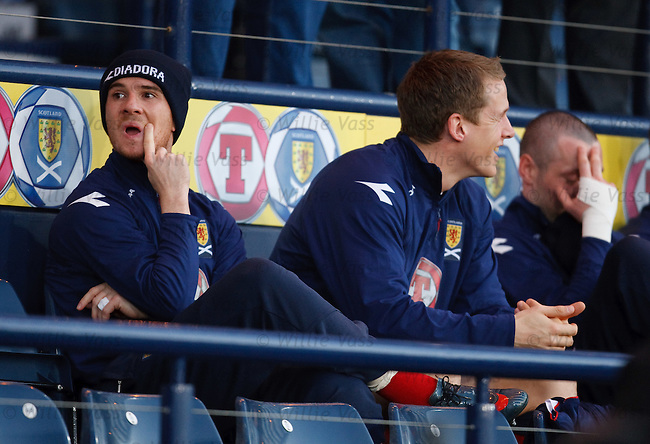 Barry Ferguson and Allan McGregor in the stand
