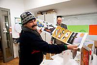 Roma 28 Dicembre 2011.Centro diurno per senzatetto 'Binario 95' in via Marsala 95, un ospite del centro.Day center for homeless people  'Track 95', Via Marsala, a guest of the center