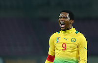 FUSSBALL   INTERNATIONAL   Testspiel    Albanien - Kamerun       14.11.2012 Samuel Eto o (Kamerun) emotional