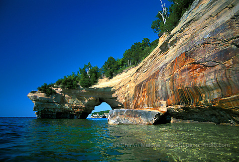 Lover's Leap, Pictured Rocks National Lakeshore. Lake Superior Magazine Calendar Cover 2007