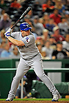 21 June 2008: Texas Rangers' first baseman Chris Shelton at bat against the Washington Nationals at Nationals Park in Washington, DC. The Rangers defeated the Nationals 13-3 in the second game of their 3-game inter-league series...Mandatory Photo Credit: Ed Wolfstein Photo