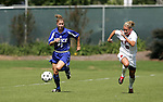 Rebecca Moros (19), of Duke, and State's Jessica O'Rourke (6) chase after the ball on Sunday October 2nd, 2005 at SAS Stadium in Cary, North Carolina. The Duke University Blue Devils defeated the North Carolina State University Wolfpack 1-0 during an Atlantic Coast Conference women's soccer game.
