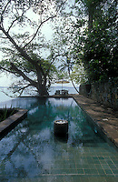 Swimming pool on Taprobane island. Weligama.